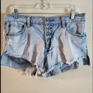 Free People Shorts - Free People Runaway Slouch Cut off Denim Shorts